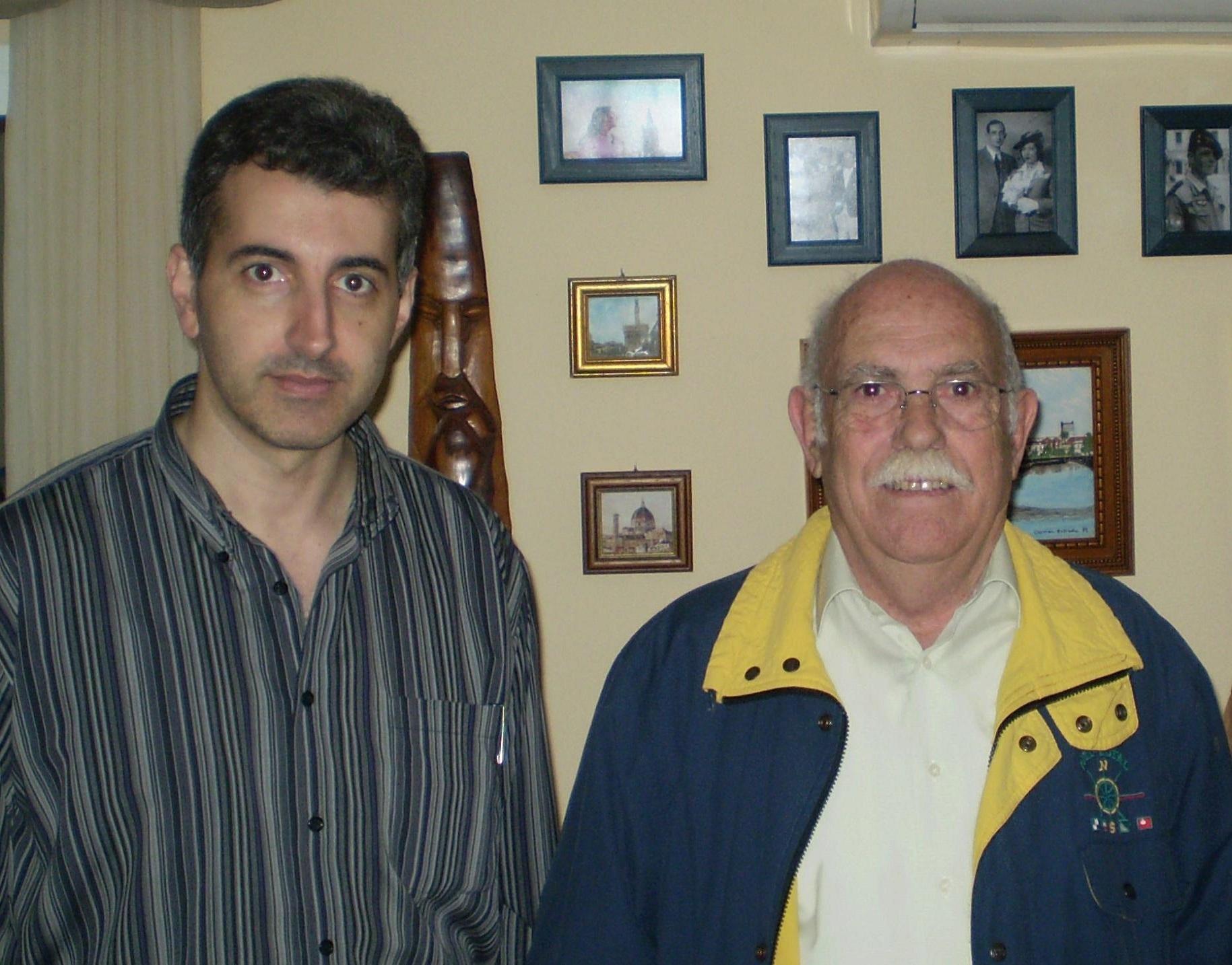 Moisés Garrido y el testigo Adrián Sánchez