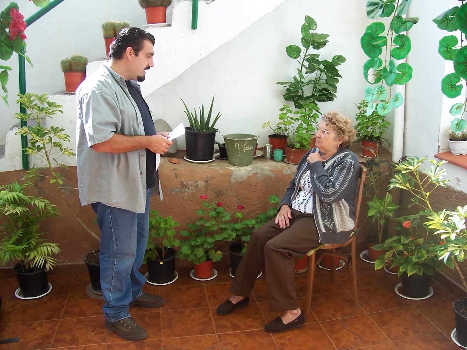 """Doña Clemencia Alegría, nieta del animero Agustín alegría, el """"majorero"""""""