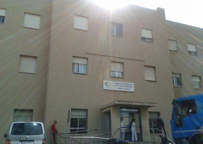 Fachada de entrada al Hospital del Tórax.