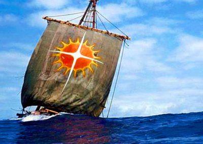 la balsa de la expedicion atlantis