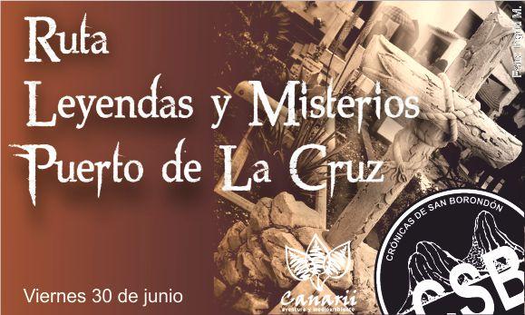 Ruta temática de leyendas y misterios por el Puerto de la Cruz viernes 30 de junio.