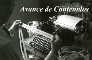 Avance de contenidos