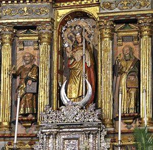 imagen de la virgen de Candelaria