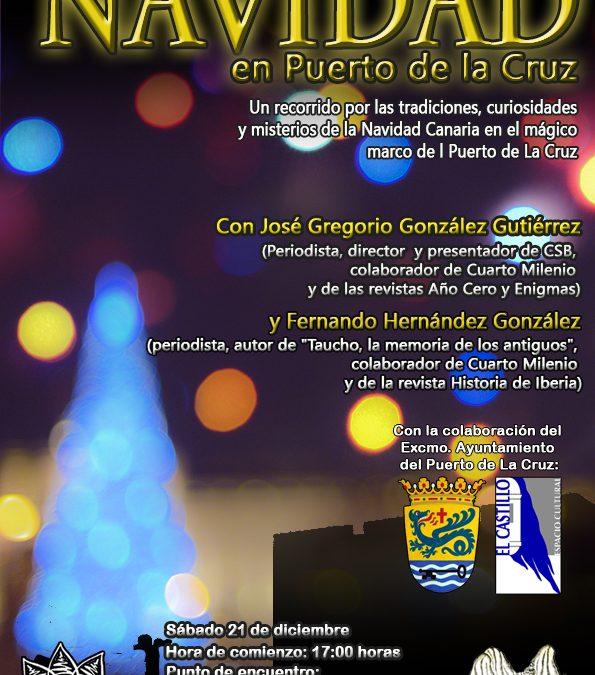 UN PASEO NAVIDEÑO con misterio y magia por PUERTO DE LA CRUZ. Sábado 21 de diciembre.