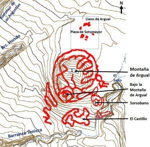 Grabado rupestre – Montaña de Argual